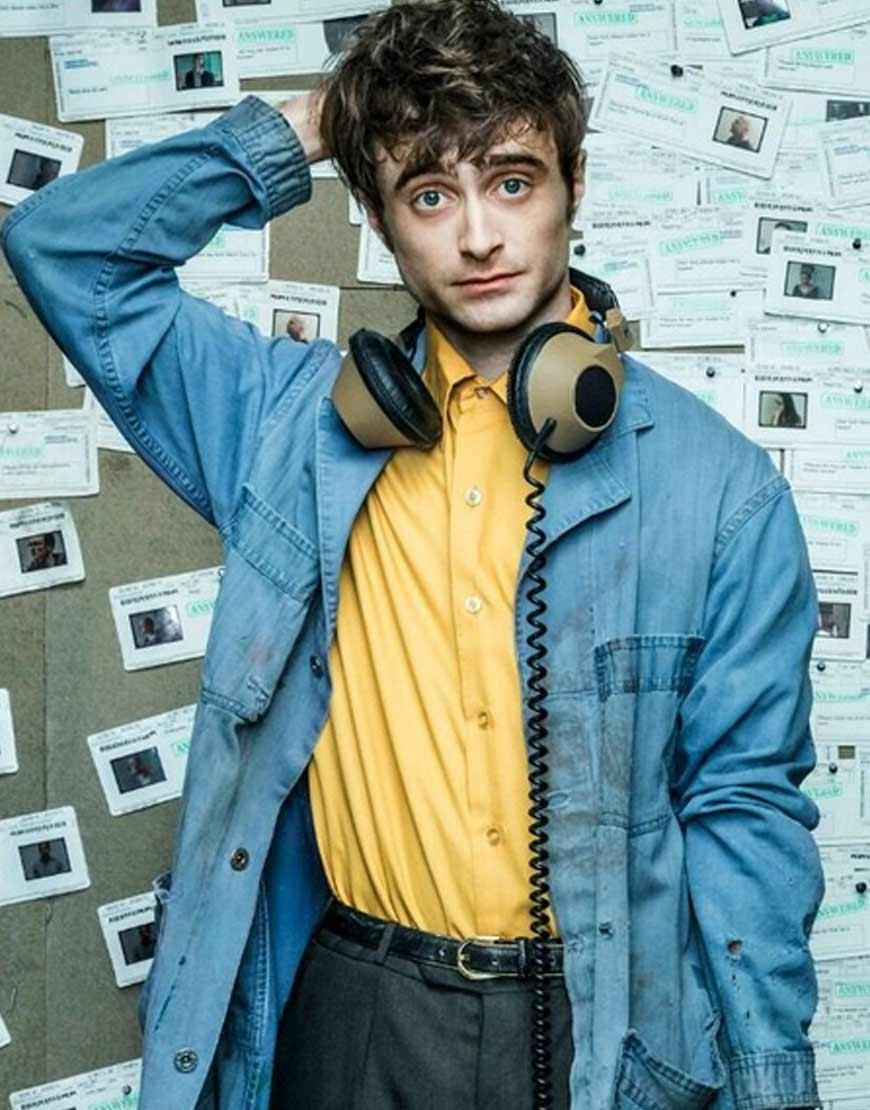 Daniel-Radcliffe-Miracle-Workers-Craig-Long-Denim-Coat-Jacket