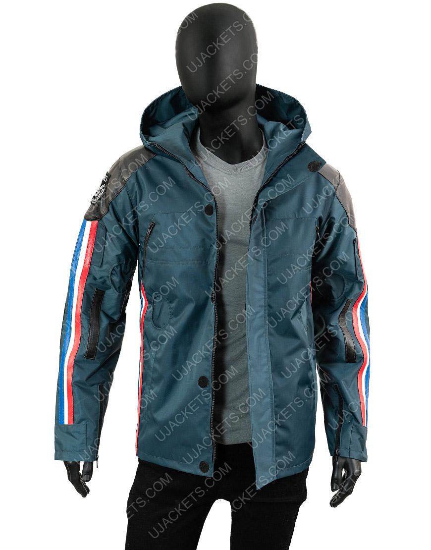 Death Stranding Sam Porter Polyester Waterproof Blue Jacket