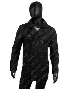 Douglas Henshall Shetland DI Jimmy Perez Wool Blend Pea Coat