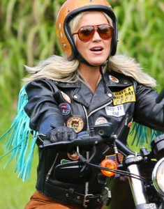 Harleys-in-Hawaii-Katy-Perry-Black-Moto-Jacket-with-Fringes