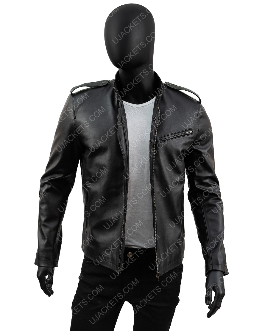 Jon Seda Chicago Pd Antonio Dawson Black Leather Detective Jacket