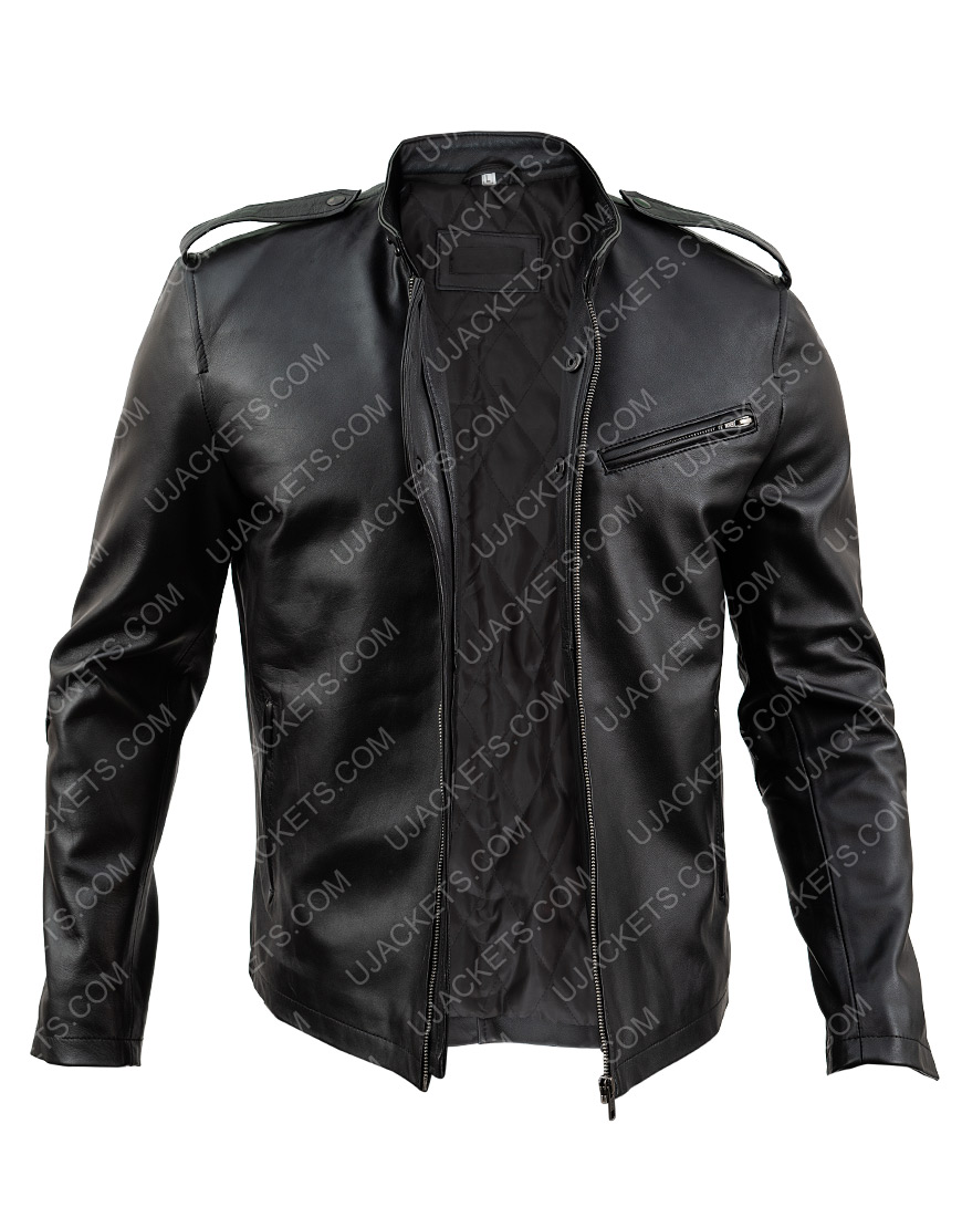 Jon Seda Chicago Pd Antonio Dawson Black Leather Jacket