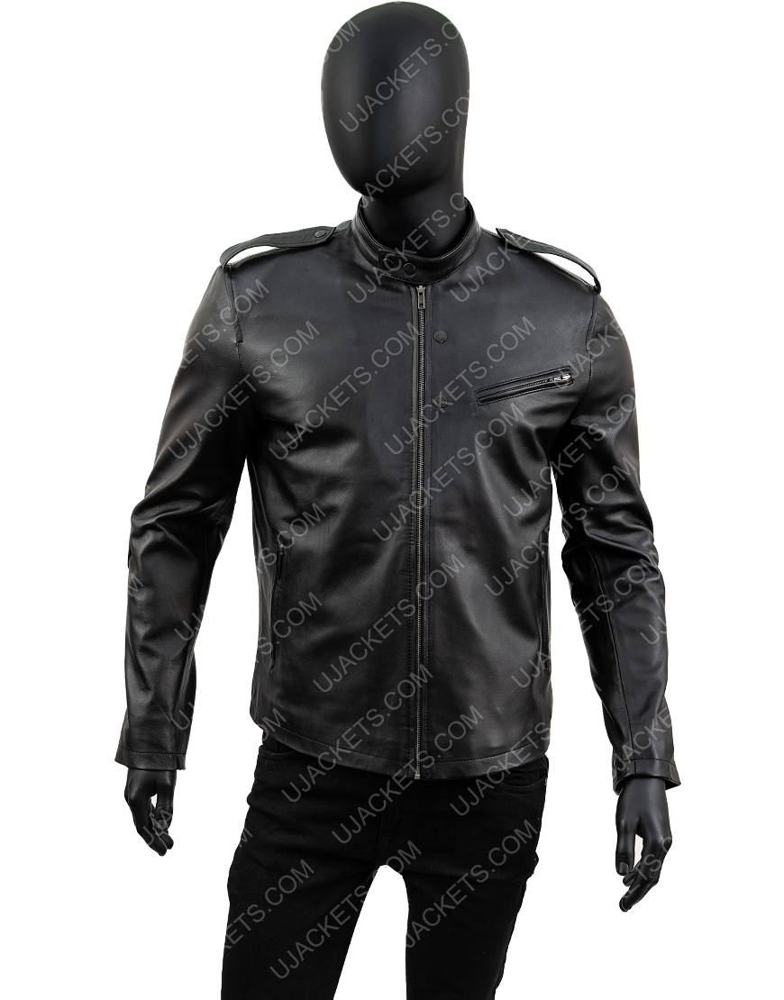 Jon Seda Chicago Pd Black Leather Detective Jacket