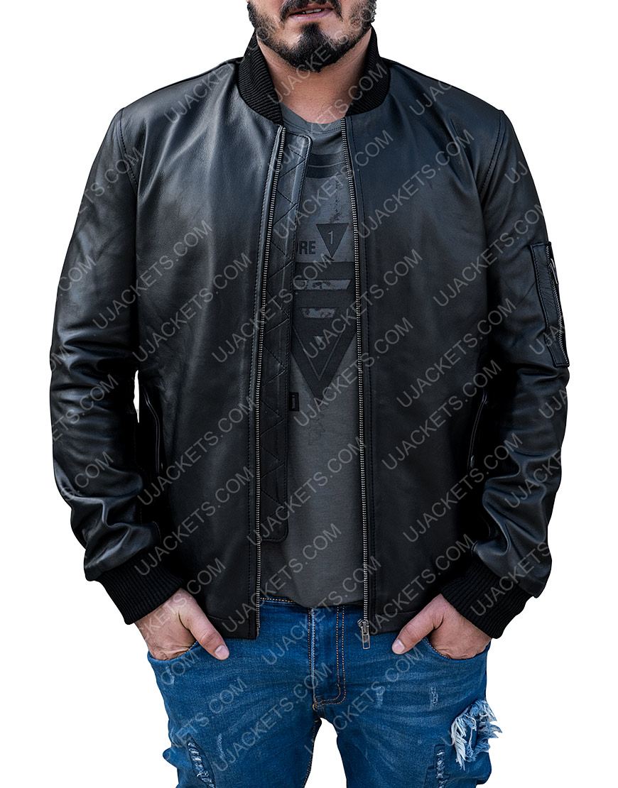 Joseph Sikora Power Black Bomber Jacket