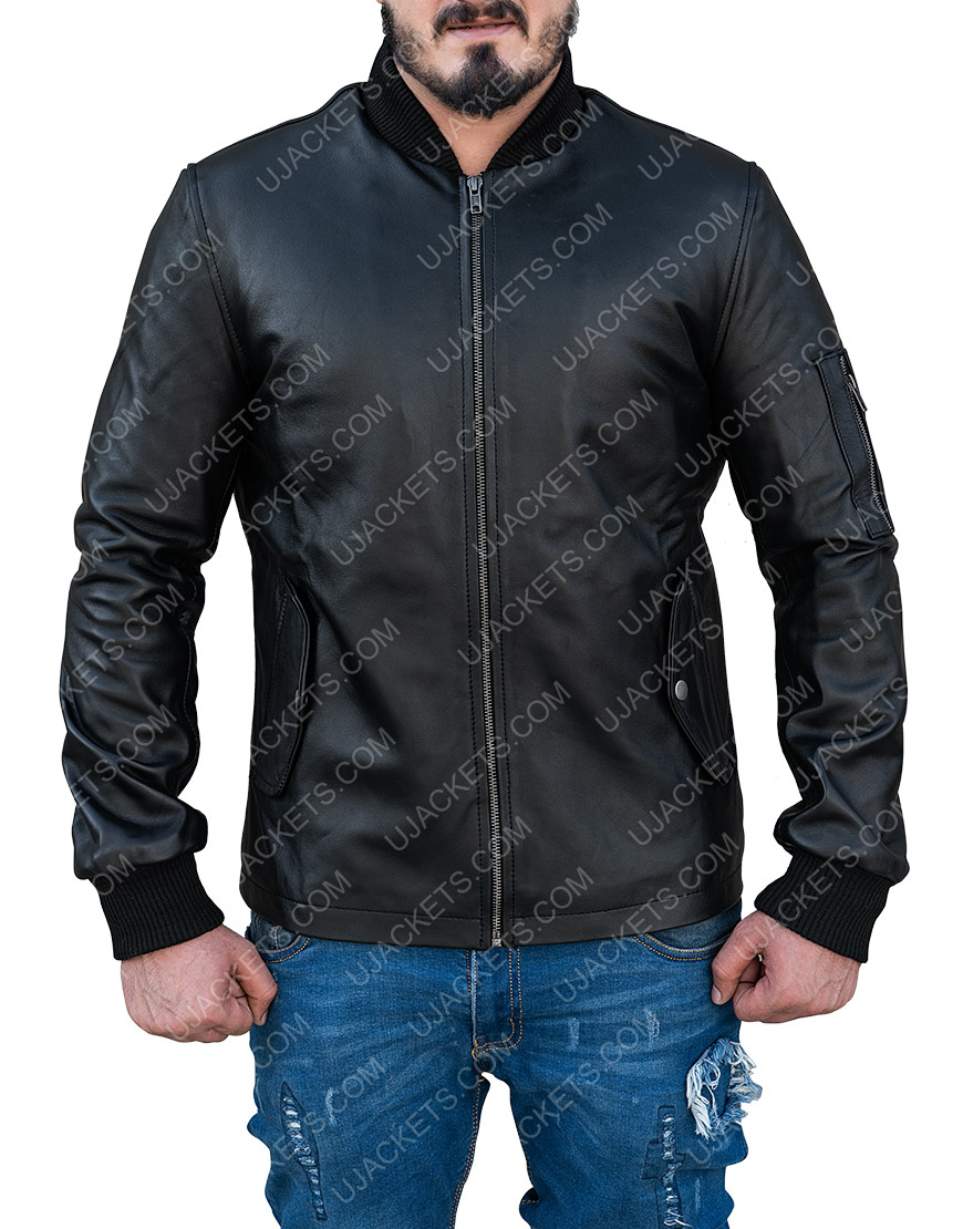 Joseph Sikora Tommy Egan Power Black Bomber Jacket