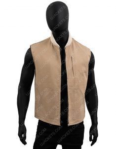 Kayce-Dutton-Brown-Cotton Vest-