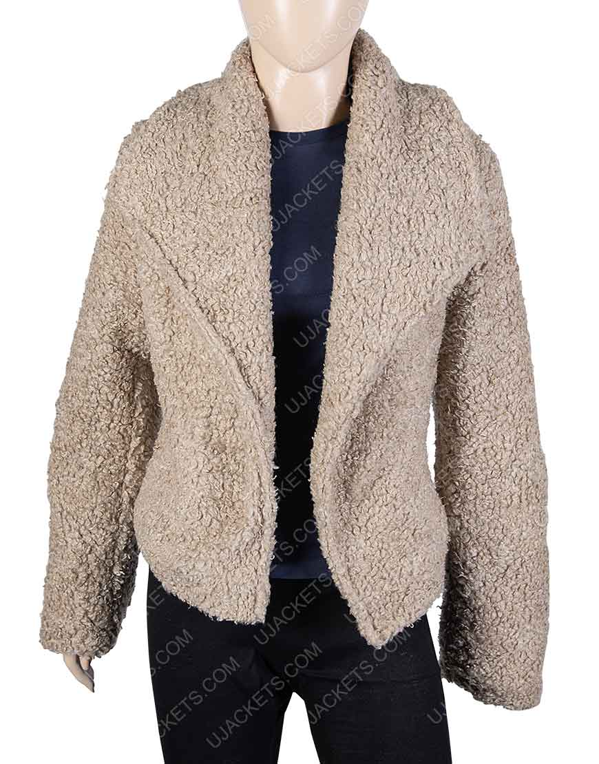 Killing Eve Jodie Comer Faux Shearling Jacket