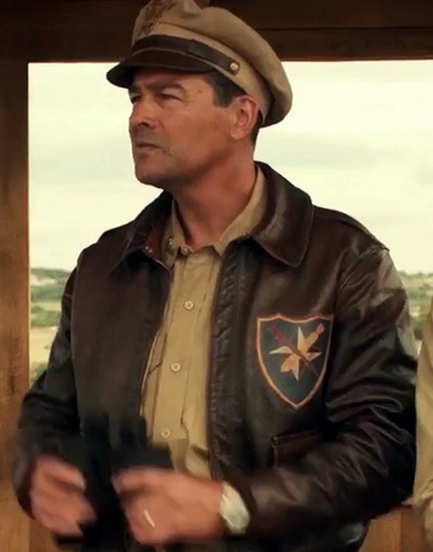 Kyle-Chandler-Catch-22-Col.-Cathcart-Brown-Bomber-Jacket
