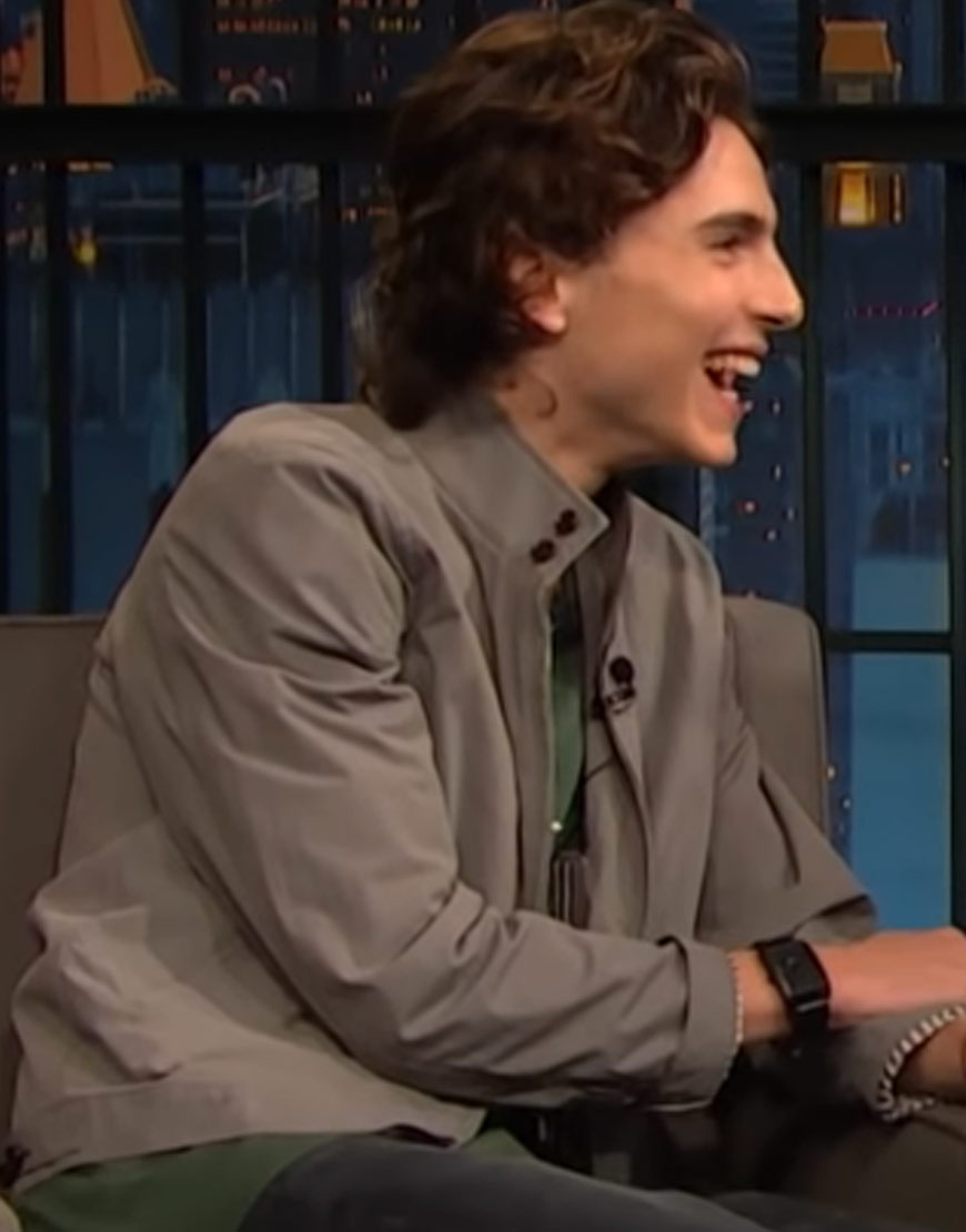 Late-Night-with-Seth-Meyers-Chalamet-Grey-Jacket