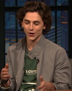 Late-Night-with-Seth-Meyers-Timothee-Chalamet-Grey-Jacket