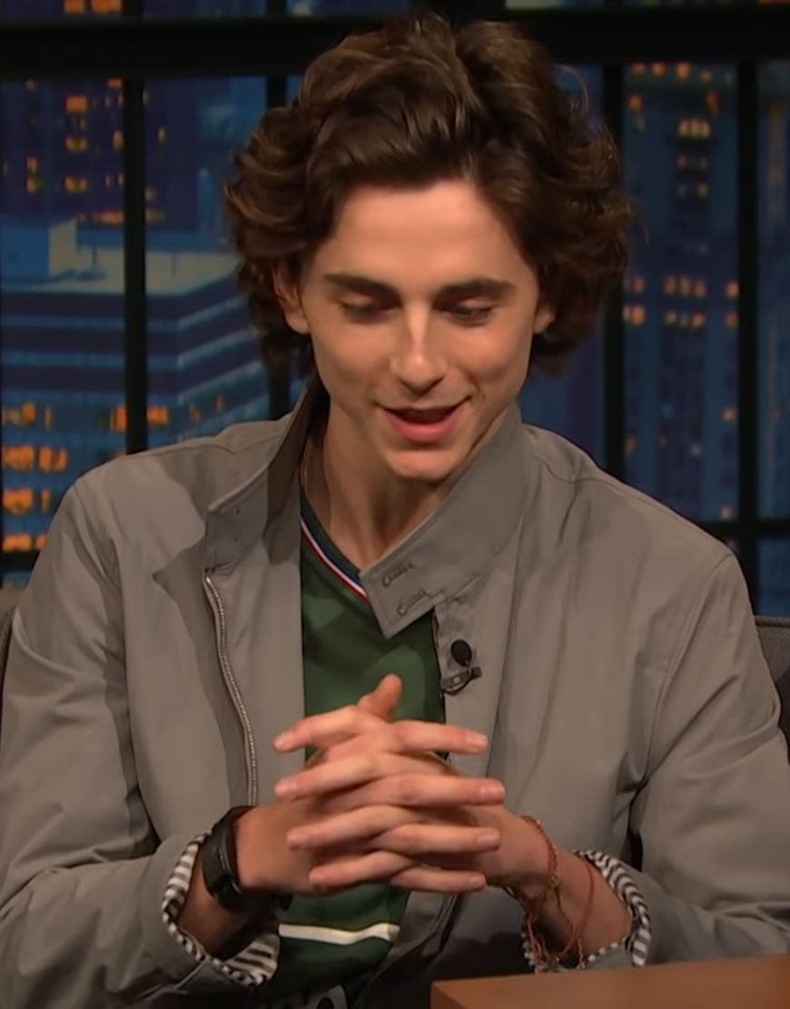Late-Night-with-Seth-Meyers-Timothee-Chalamet-Jacket