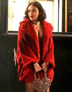 Lucy-Hale-Katy-Keene-Red-Faux-Fur-Coat