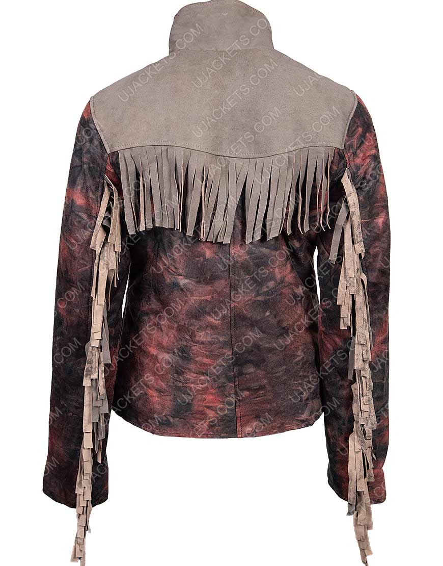 Maeve Wiley Sex Education Emma Mackey Fringed Blazer Jacket