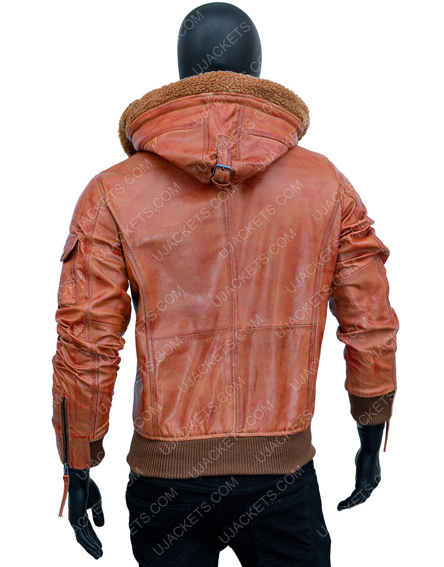 Men Brown Leather Motorcycle Jacket