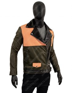 Men's Lapel Collar Biker Slimfit Leather Jacket
