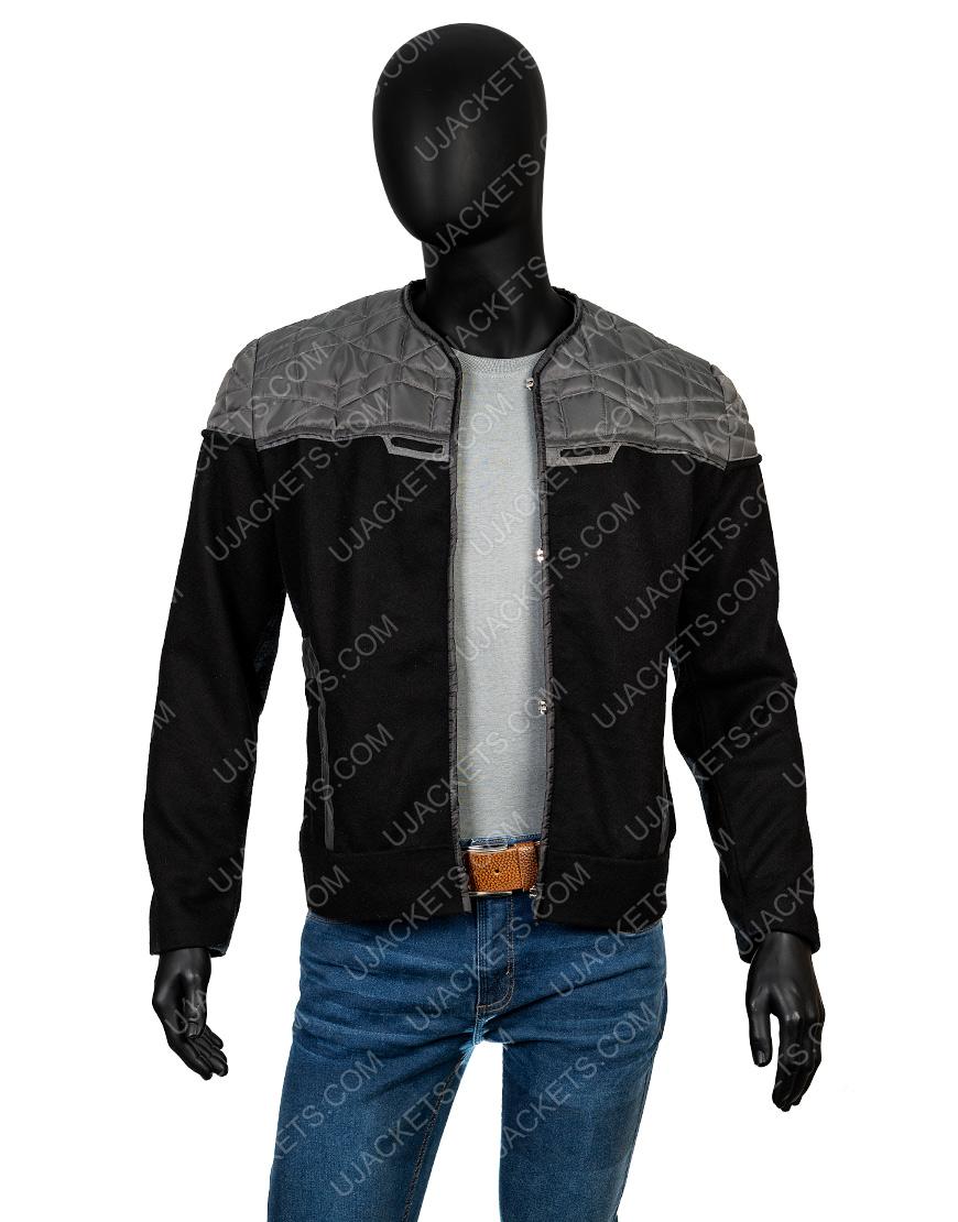 Patrick Stewart Star Trek Jean Lu Picard Black Cotton Jacket
