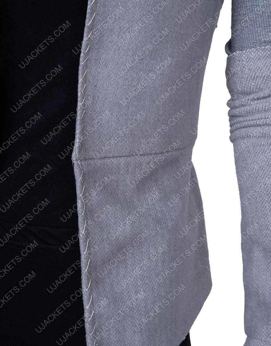 Rey Star Wars Wool Blend Grey Vest with Sleeves