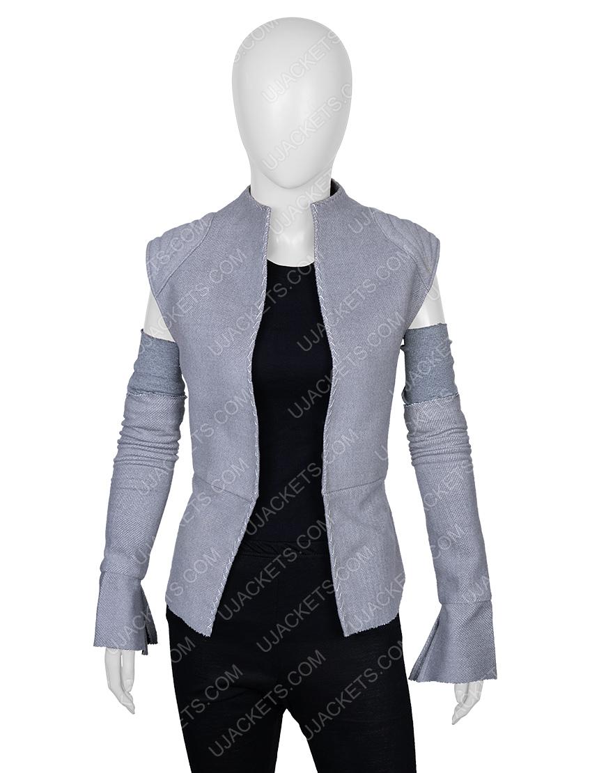 Rey Star Wars Wool Blend Resistance Grey Vest with Sleeves