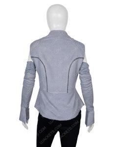 Rey Star Wars Wool Resistance Grey Vest with Sleeves