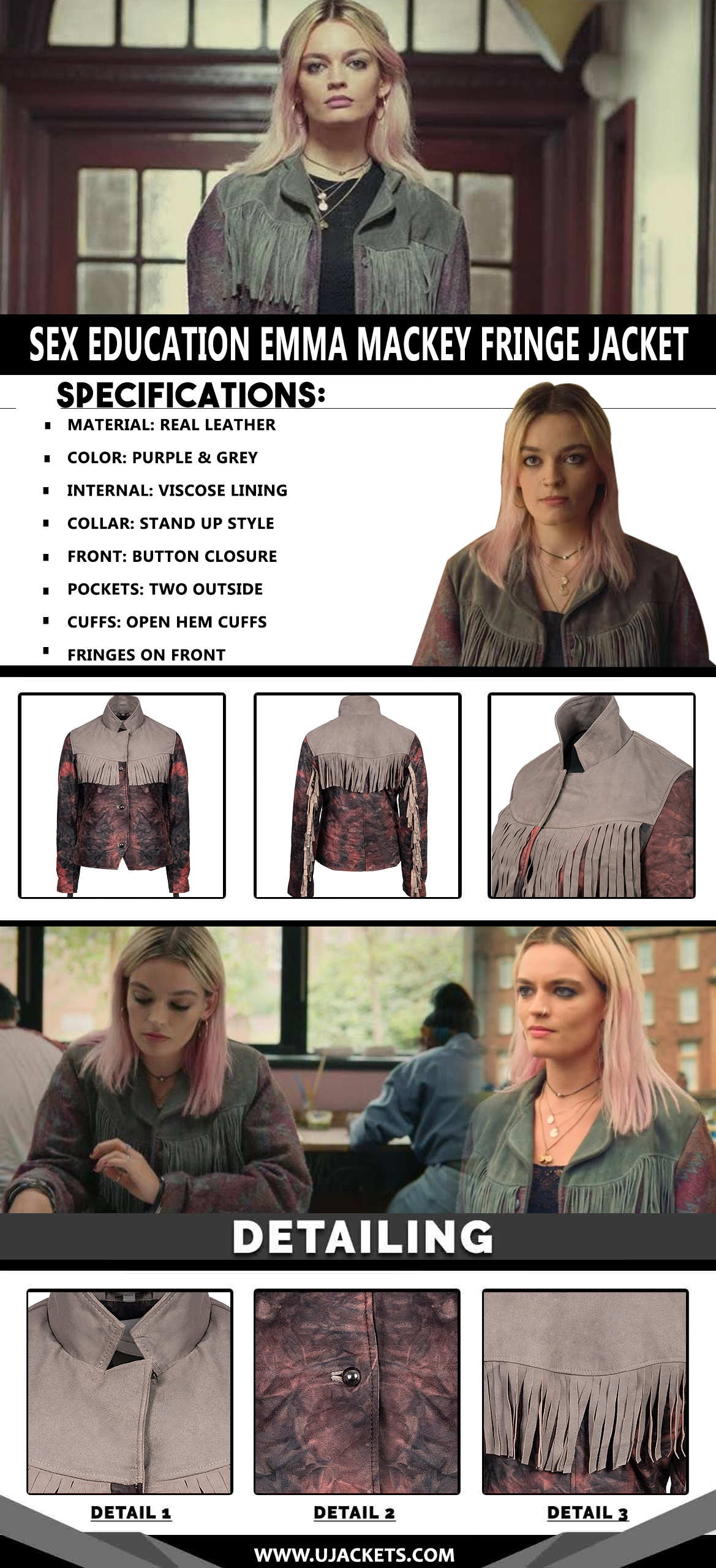 Sex-Education-Emma-Mackey-Fringe-Jacket