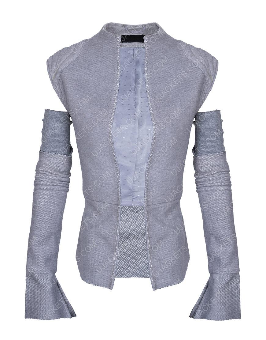 Star Wars Wool Blend Resistance Grey Vest with Sleeves