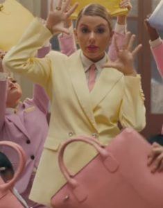 Taylor-Swift-ME-Pastel-Yellow-Double-Breasted-Suit-Coat