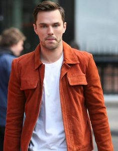 Tolkein-Nicholas-Hoult-Global-Radio-Studios-London-Suede-Jacket