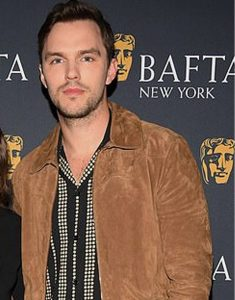 Tolkien-Promotion-Nicholas-Hoult-Bafta-New-York-Suede-Jacket