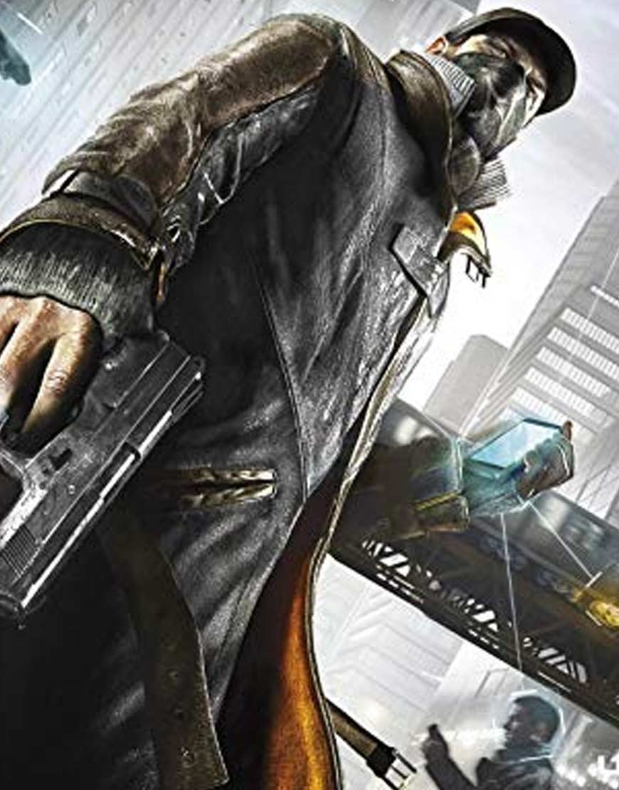 Watch-Dogs-Sheepskin-Leather-Trench-Coat