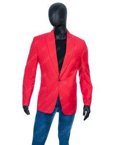 Abel Makkonen Red Wool Blend Coat The Weeknd In Blinding Light