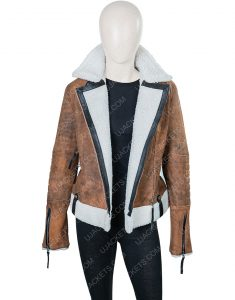 Alexandra Breckenridge Virgin River Melinda Shearling Jacket