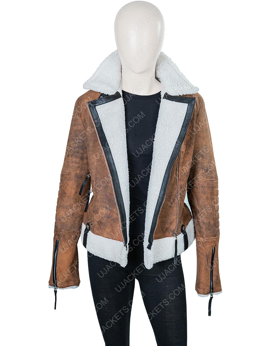 Alexandra Breckenridge Virgin River Melinda Shearling Jacket