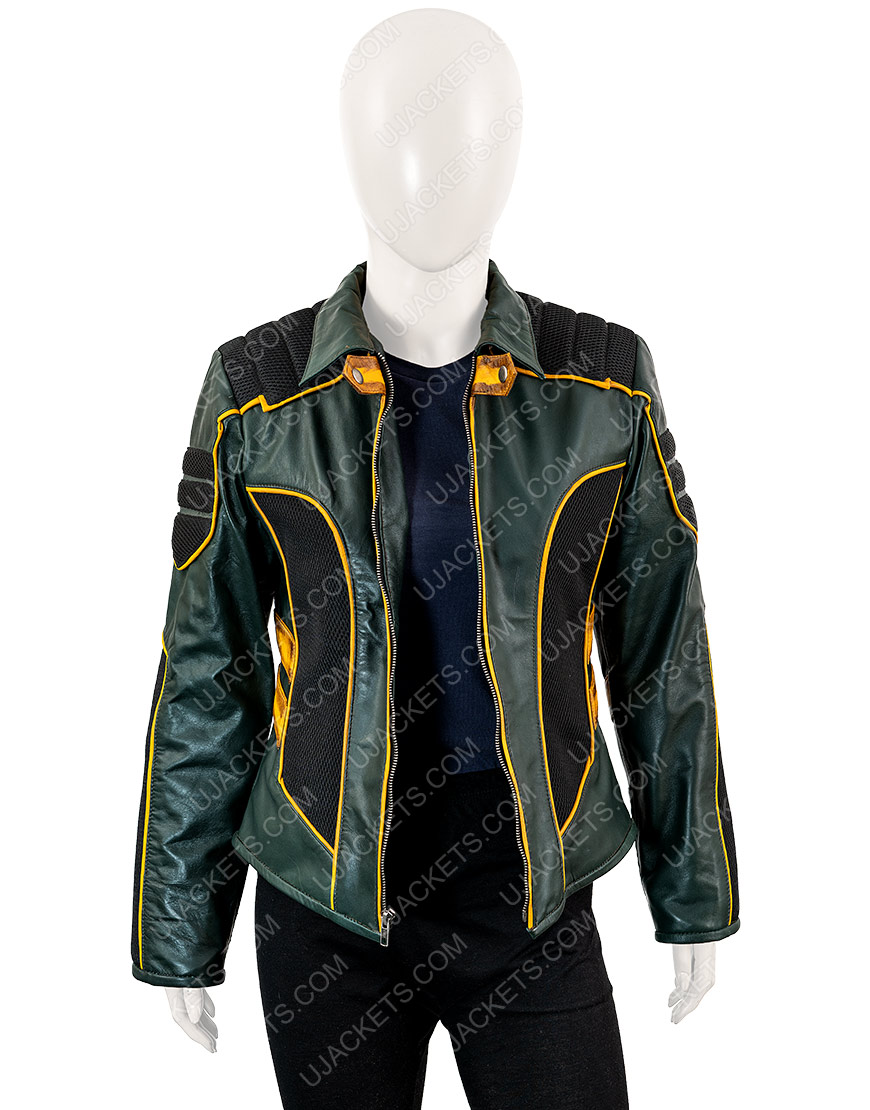 Arrow Season 8 Laurel Lance Black Leather Jacket