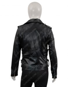 Asymmetrical Motorcycle Leather Jacket For Women