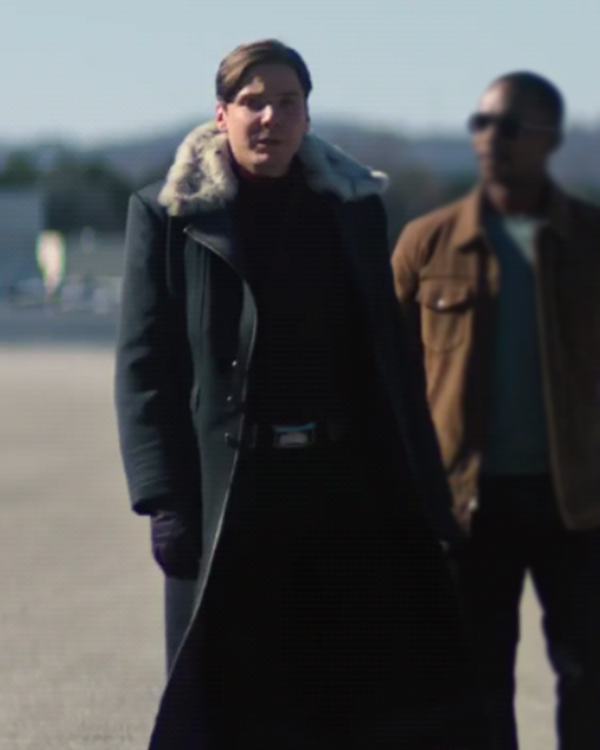 Daniel Brühl The Falcon And The Winter Soldier Wool Blend Coat With Fur Collar