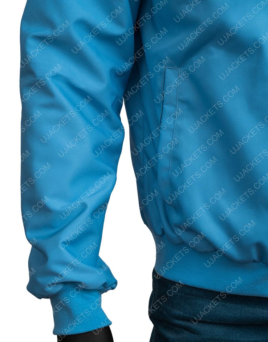 Free Guy Movie Ryan Reynolds Blue Bomber Jacket