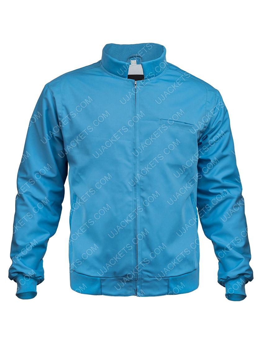 Free Guy Movie Ryan Reynolds Blue Cotton Bomber Jacket