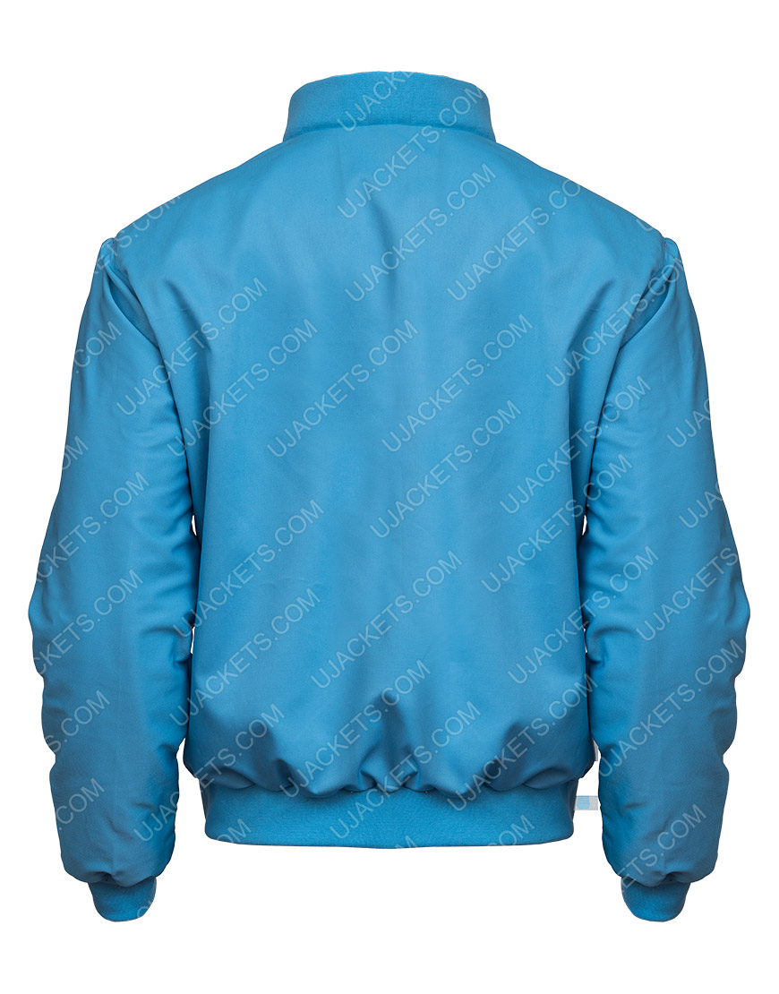 Free Guy Movie Ryan Reynolds Blue Cotton Jacket
