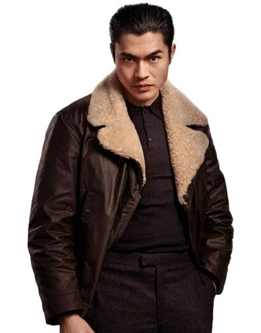 Henry-golding-The-Gentlemen-Leather-jacket