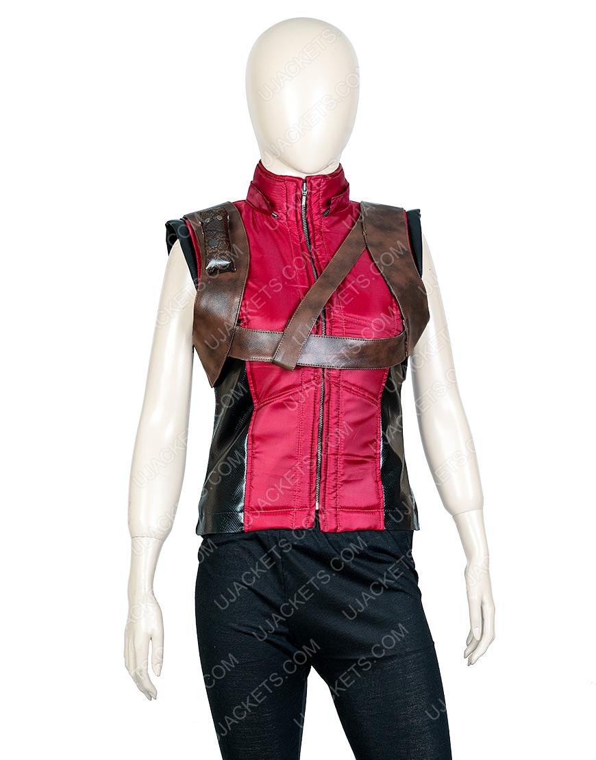 Jumanji The Next Level Karen Leather Hoodie Vest