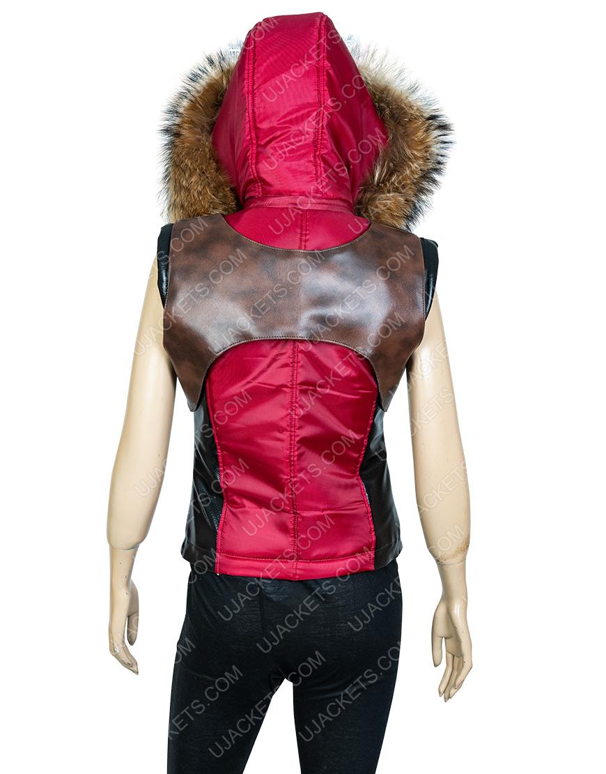 Jumanji The Next Level Martha Karen Leather Hoodie Vest