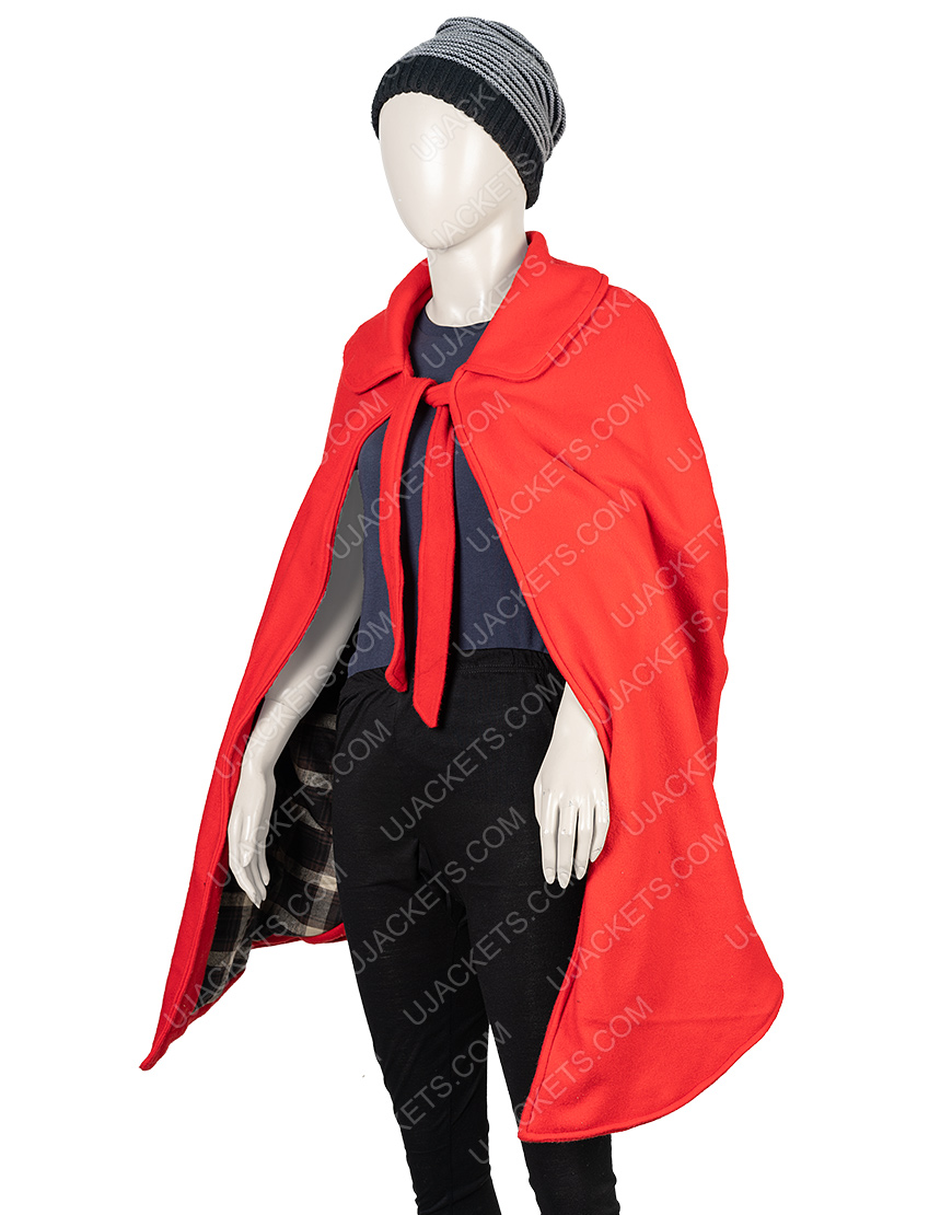 Little Women Jo March Red Woolen Cloak Coat