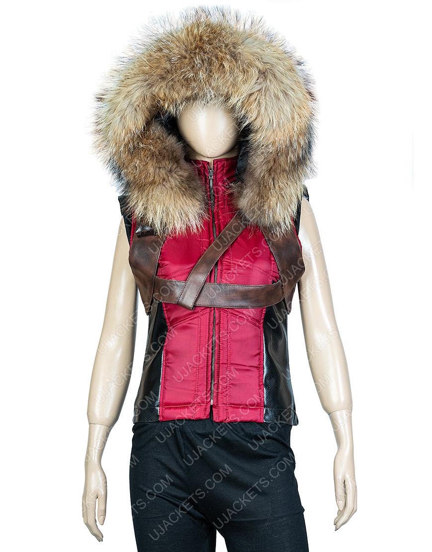 Martha Jumanji The Next Level Karen Leather Hoodie Vest