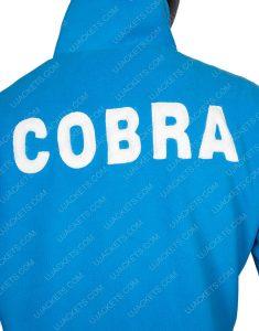 Matt Damon Carroll Shelby Ford V Ferrari Blue Leather Jacket
