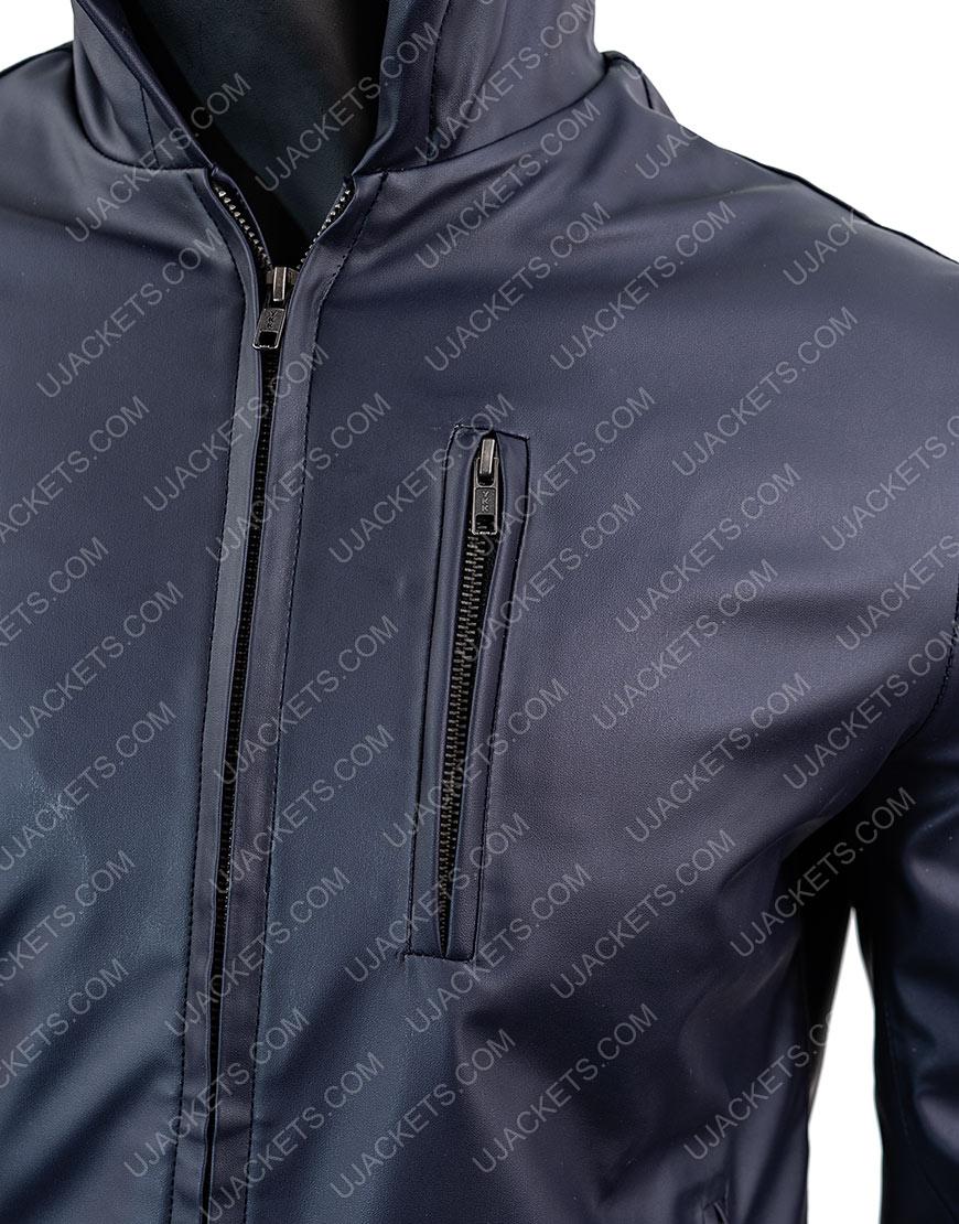 Mens Reversible Hooded Leather Jacket