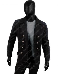 Men's Slim fit Short Wool Blend Coat