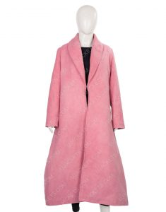 Midge Maisel Rachel Brosnahan Pink Woolen Coat From The Marvelous Mrs.Maisel