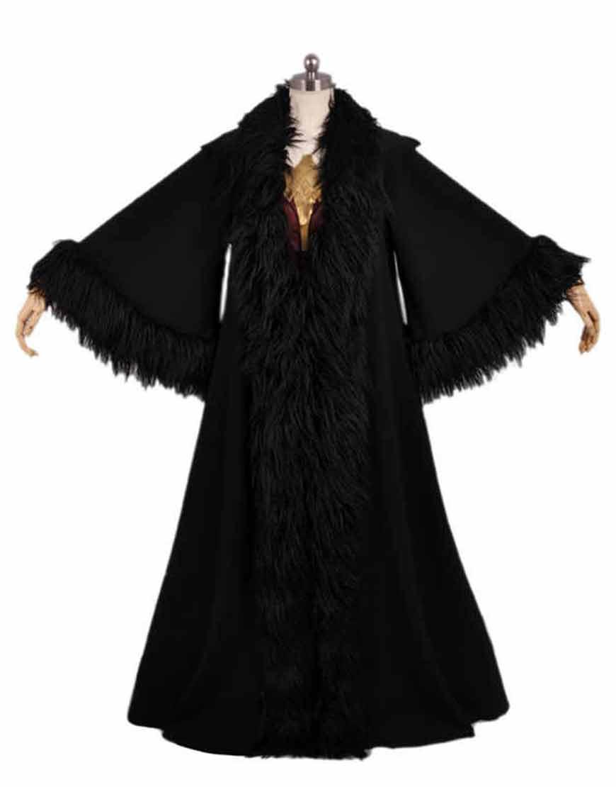 Movie-Wonder-Woman-Black-Cloak-Hood-Coat