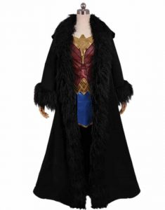 Movie-Wonder-Woman-Black-Cloak-Hooded-Coat