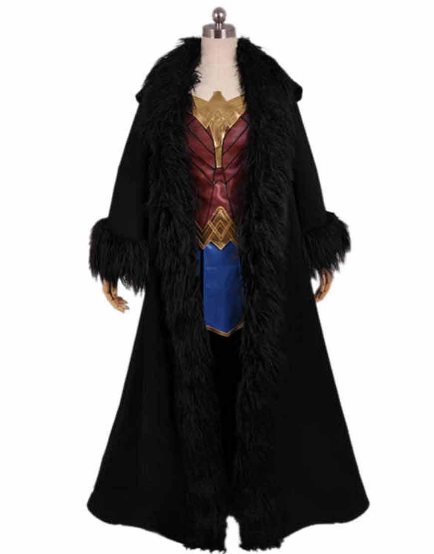 Movie-Wonder-Woman-Black-Cloak-Hooded-Coat